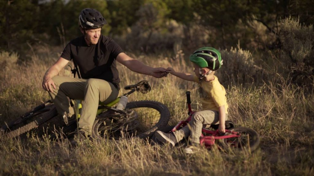 MTB Vater Sohn - little trail hunter