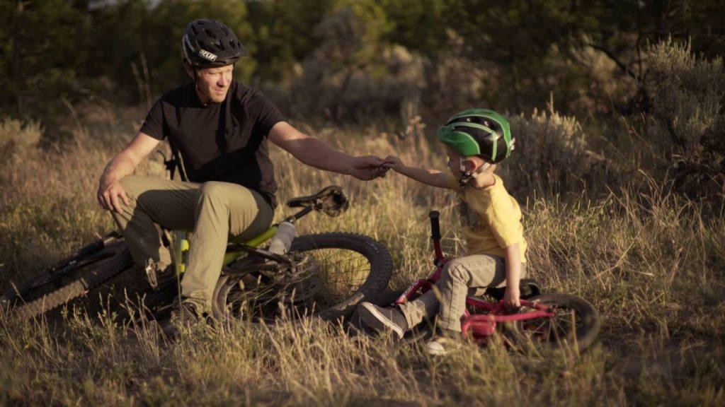 MTB Vater Sohn - little trail hunter