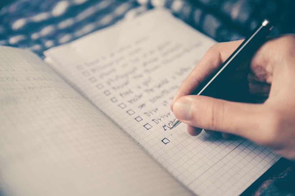 Checkliste Packliste